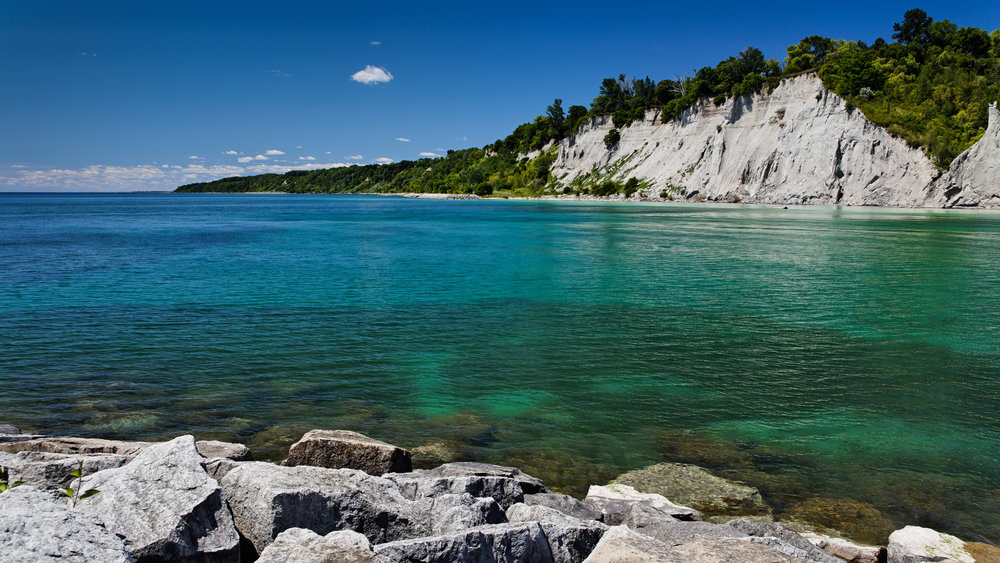 the most impressive and beautiful shoreline areas around all of Lake Ontario - Scarborough Bluffs Toronto