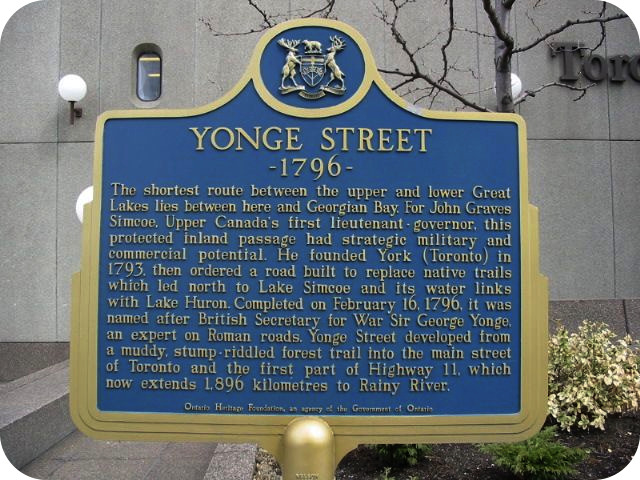 Photo by Alan L Brown for Toronto Plaques