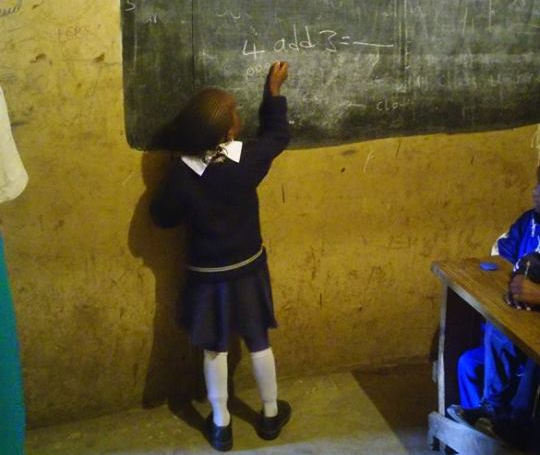 Buy blackboards for all the classrooms $450 -