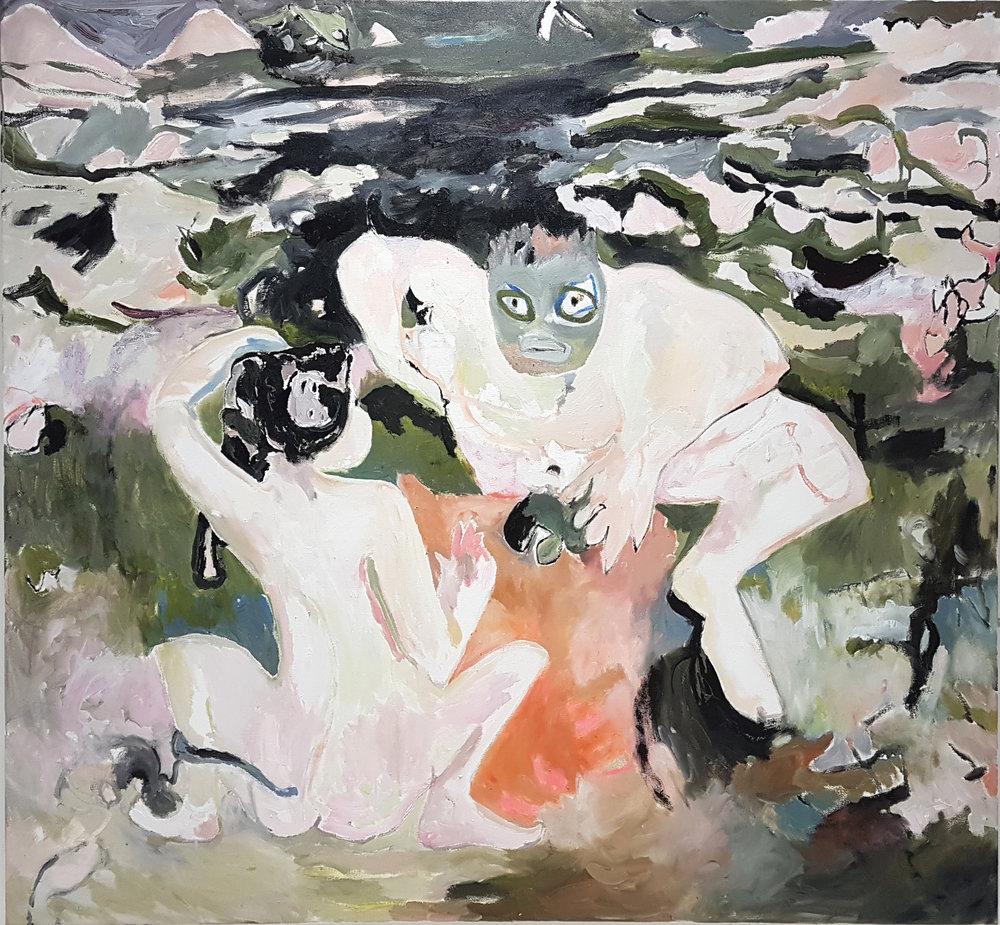 Sealife oil on canvas, 140 × 130 cm, 2017