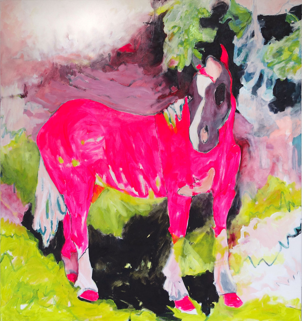 Pink Pony oil on canavas 130 x 140 cm, 2016