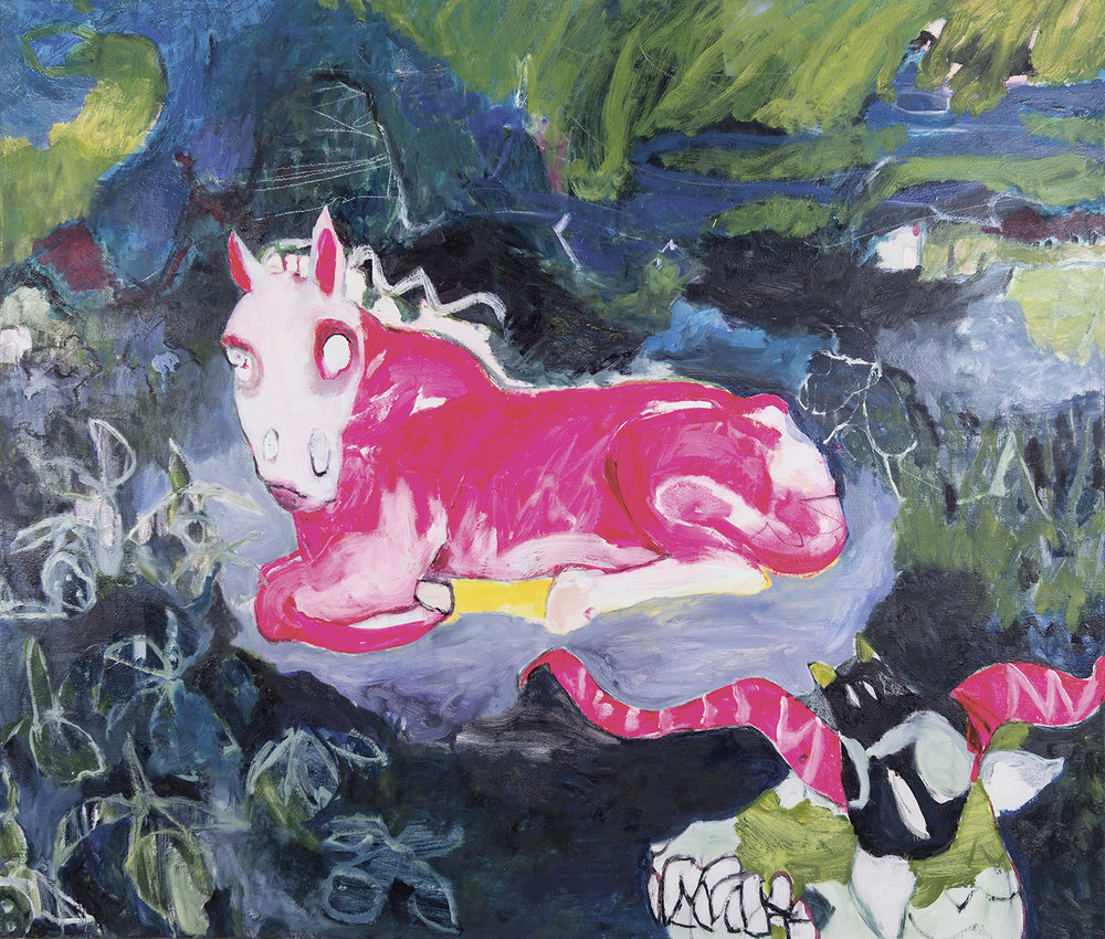 Little Pony oil on canvas 140 × 130 cm, 2016