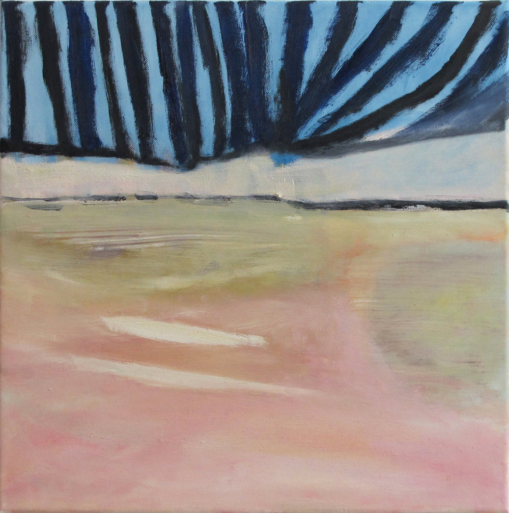 Stripy Sky oil on canvas 40 × 40 cm, 2013