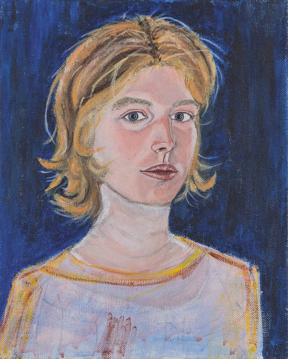 Selfportrait oil on canvas 30 × 40 cm, 1995