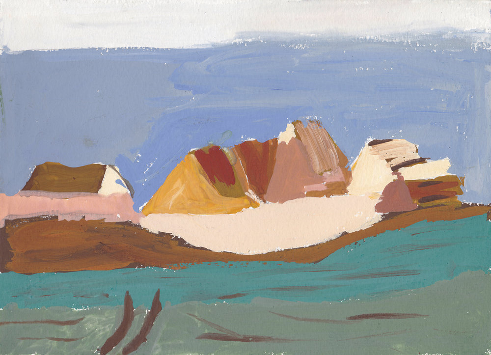 Village Gouache on paper 28 × 21 cm, 1988