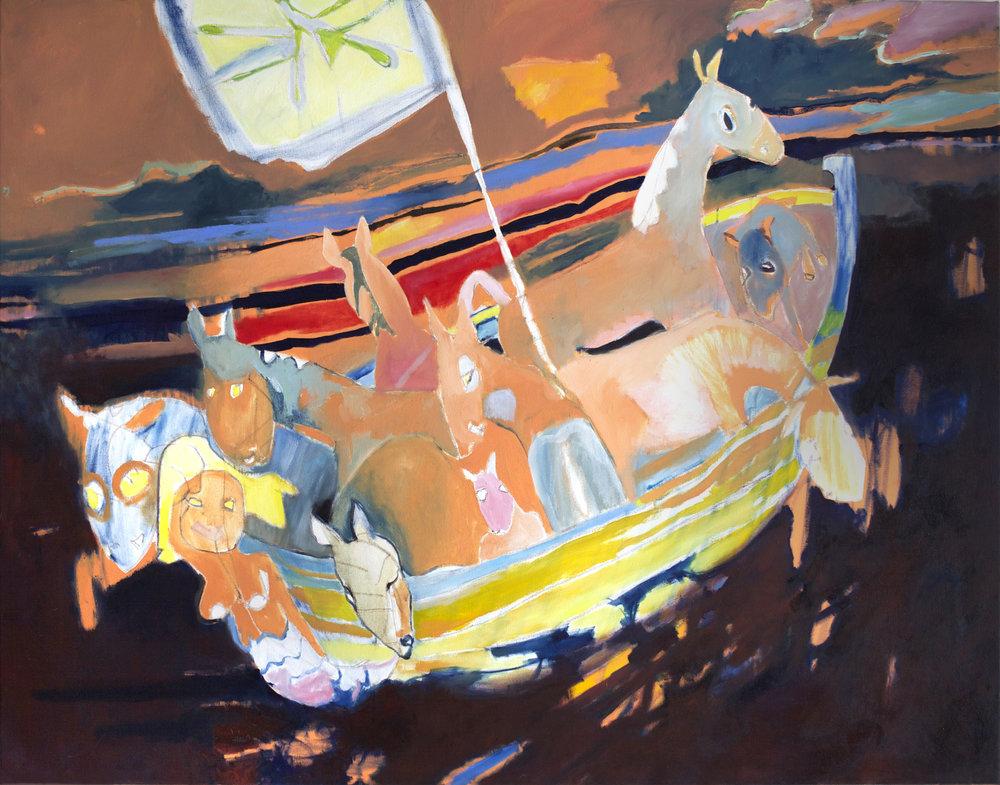 Noah's Ark, oil on canvas, 140 x 120 cm, 2019