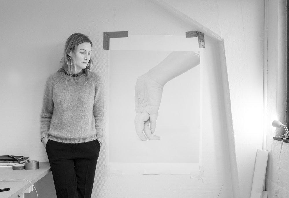 Ingrid in her studio.