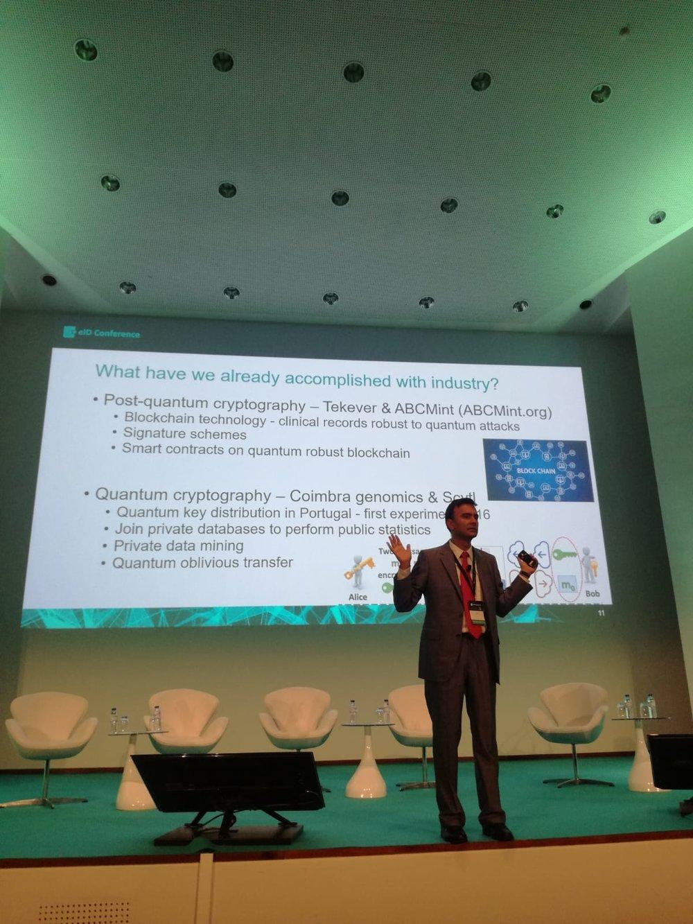 SQIG Coordinator, Prof. Paulo Mateus  - Presentation about CryptoQuantum