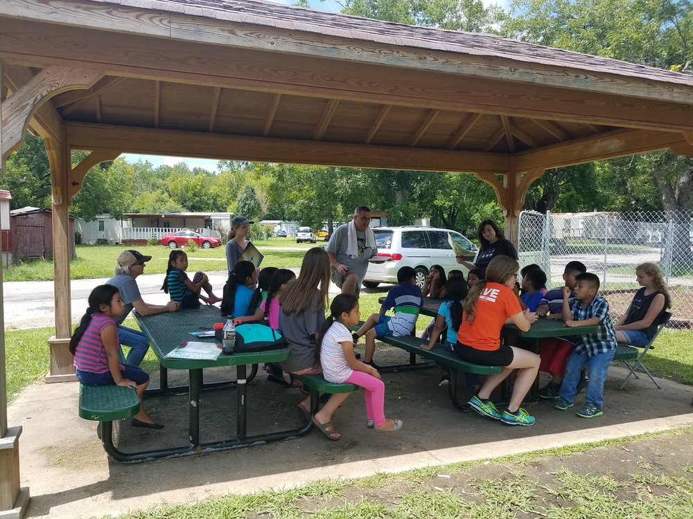 Children gather for  5-Day Club®  at Regency Park as part of a partnership between Gateway Baptist Church and  CEF®  of Central Alabama.