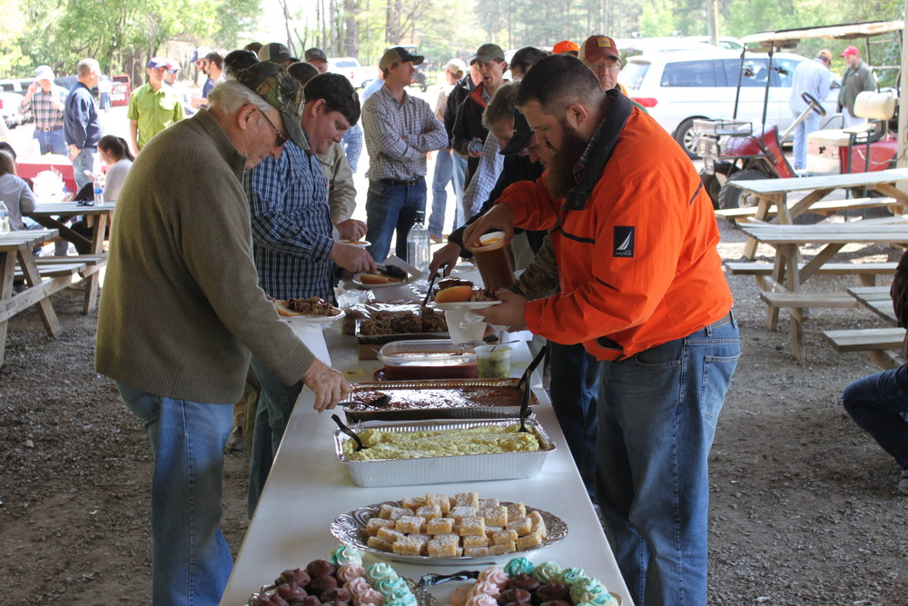 Sponsor Smokin' S Barbecue donated lunch for the event.