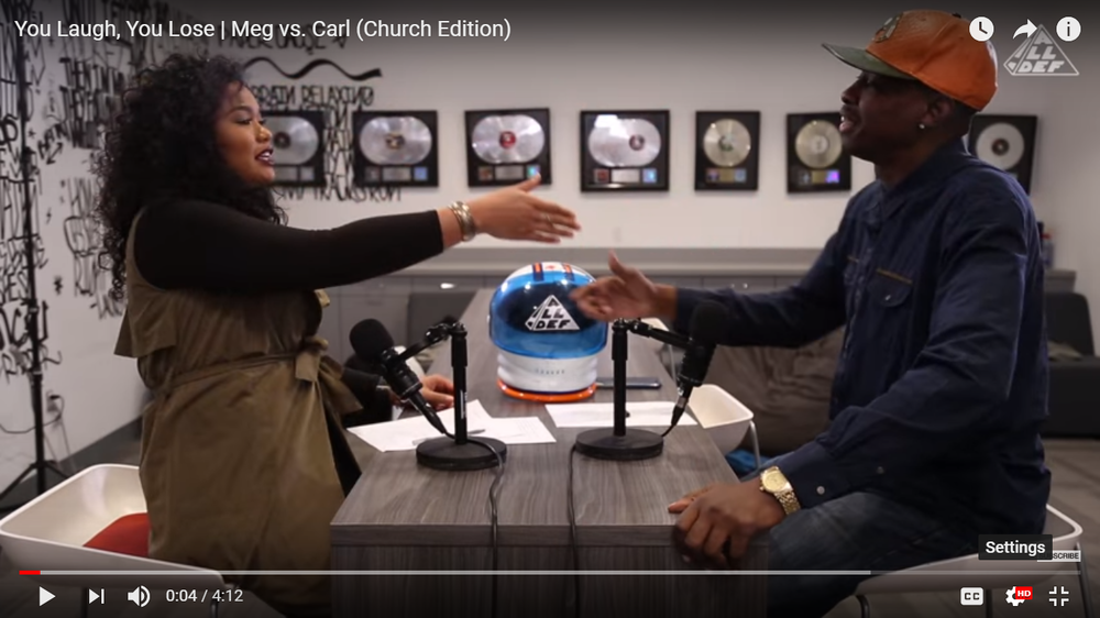 You laugh, You lose | Meg vs. Carl (Church Edition)