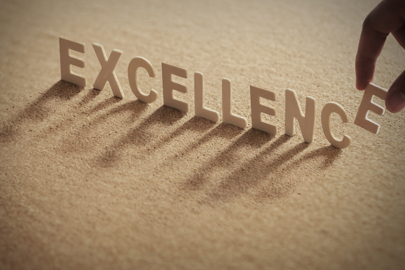 Commit to excellence, and ensure others know exactly what you expect.