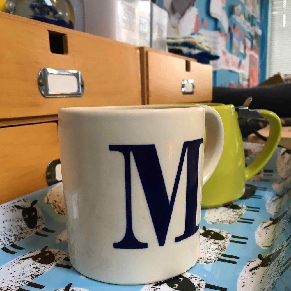Mug and teapot