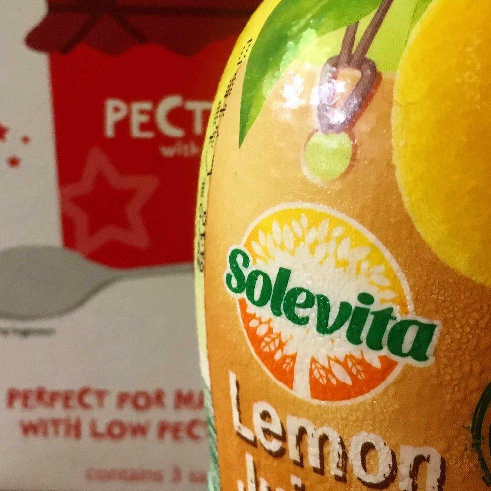 Lemon juice and pectin