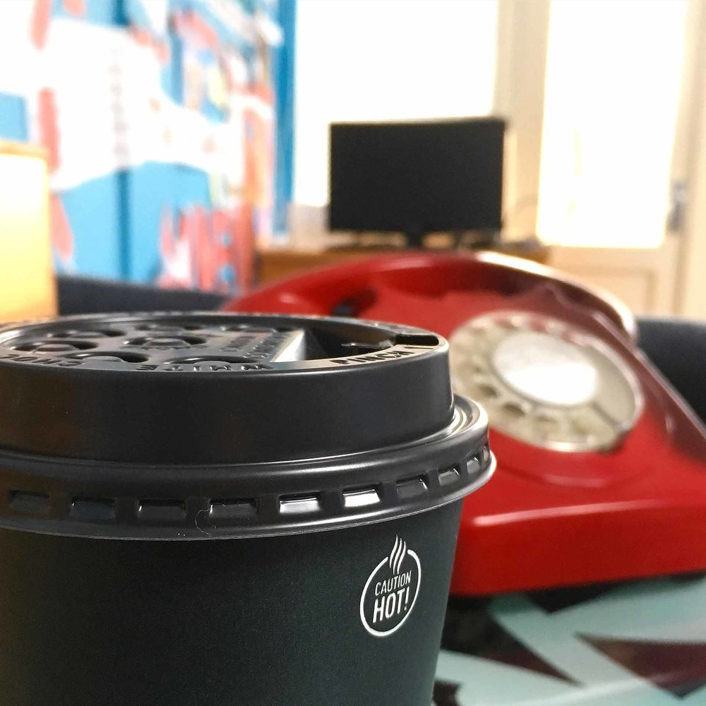 Coffee at my desk