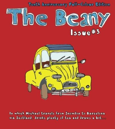 The Beany #3: In which Michael travels from Snowdon to Barcelona via Scotland, drinks plenty of tea and draws a bit…