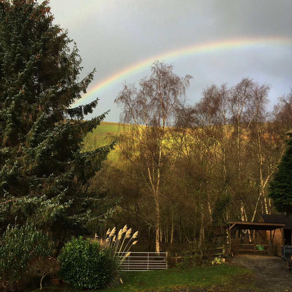 Rainbow over Gilwern