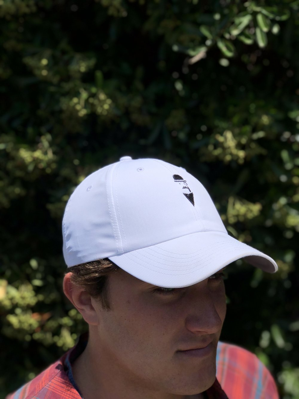 Men's Imperial dry-fit hat.  White with black logo.  Includes free shipping!   Click here to buy