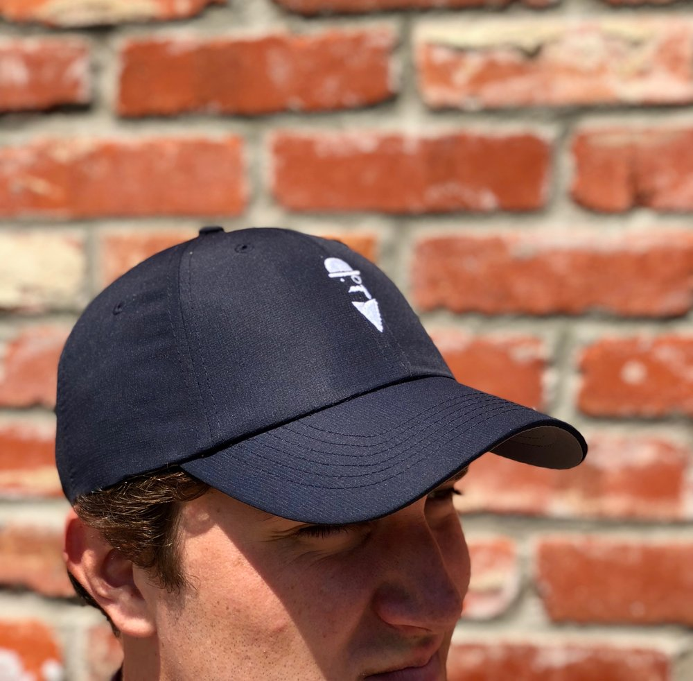 Men's Imperial dry-fit hat.  Dark blue with white logo.  Includes free shipping!   Click here to buy