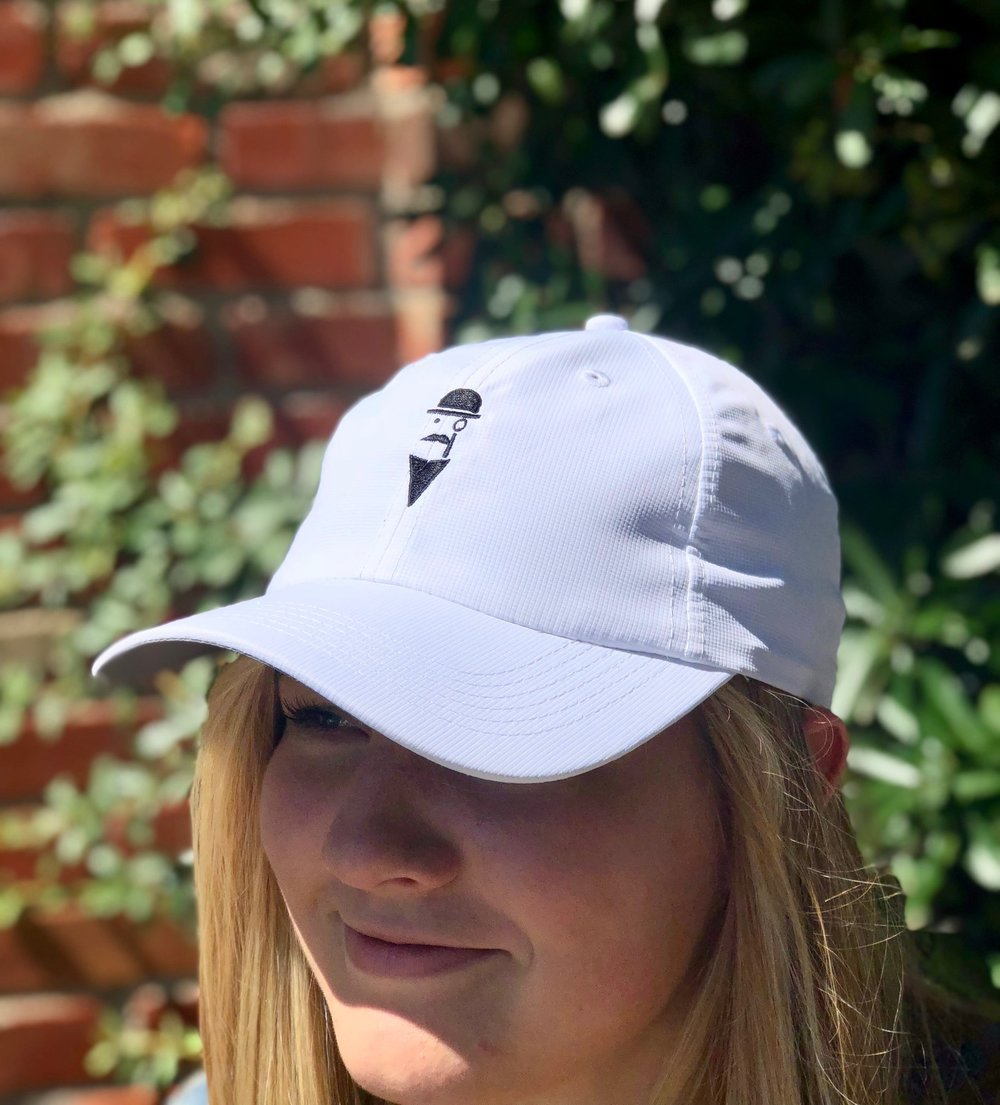 Women's Imperial dry-fit hat.  White with black logo.  Includes free shipping!   Click here to buy