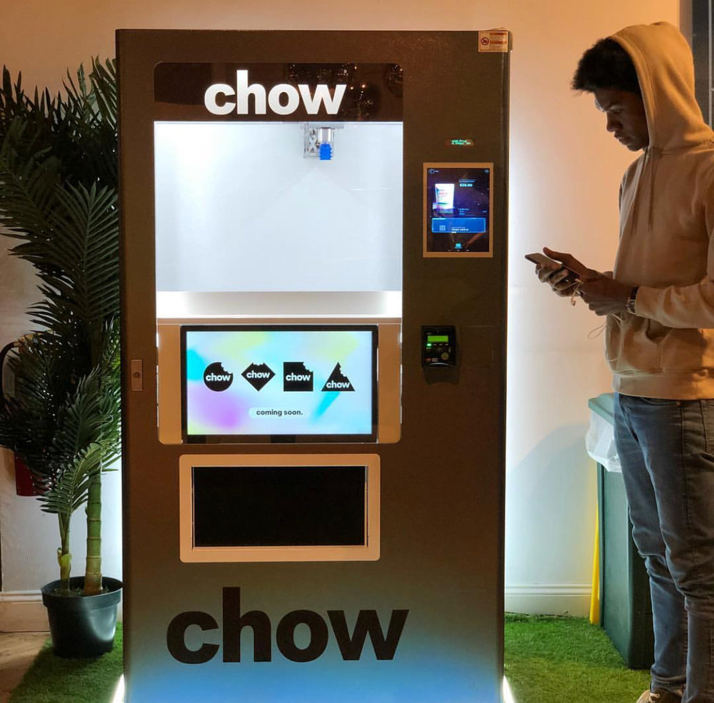 Potion x Chow  - Find Potion products in Chow Pods located around NYC.Chow Pods are beautiful, AI-powered vending machines that dispense healthy and trending products. Potion treats will be sold in the machines through an exclusive collaboration.The first Chow Pod will be located at Canal Street Market .Click here for more information on Chow!