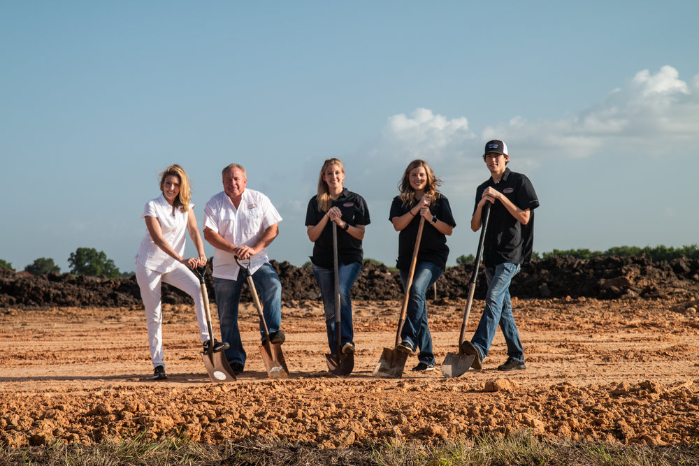 Left to Right: Cheri, Kenny, Kristin, Kendall, and Boyd Bumbera