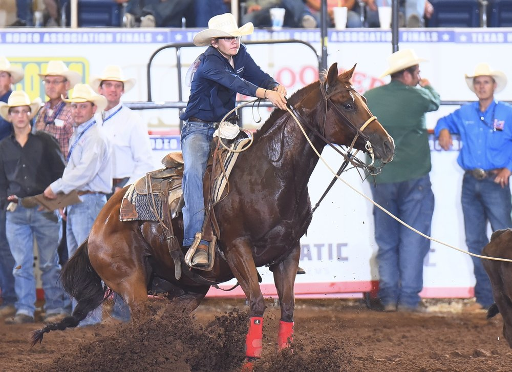Anna Marie Schreck at Texas High School Rodeo Association State Finals. (Photo provided by Carole Schreck.)