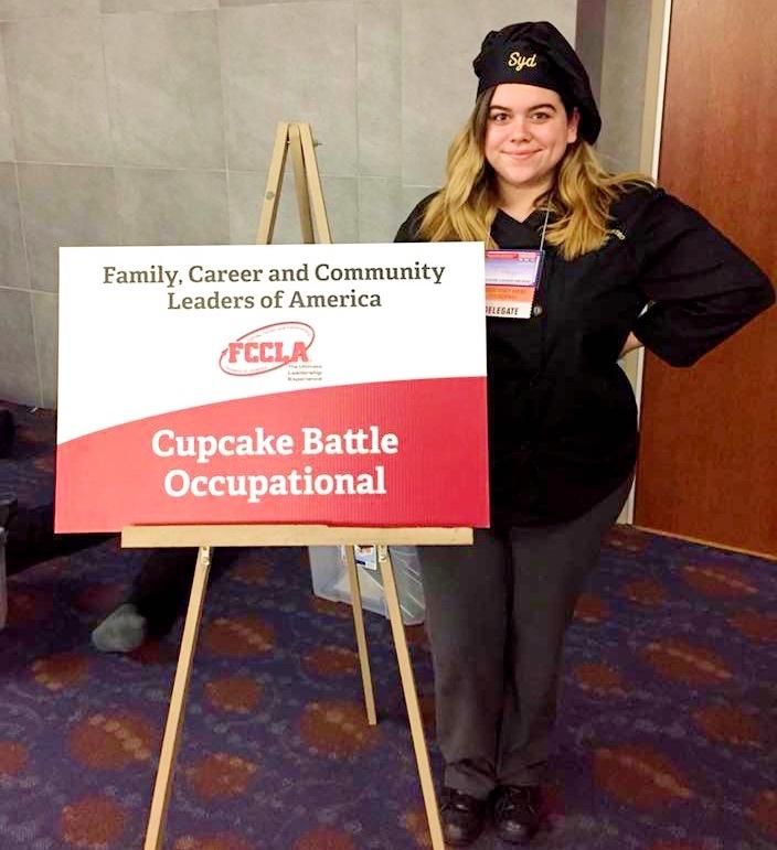 Sydney won a $500 scholarship at FCCLA's Cupcake Battle.