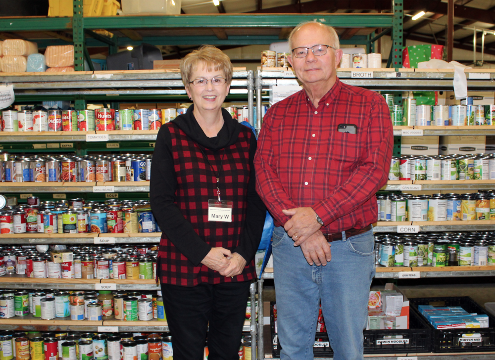 Mary and Ron Warkentine have volunteered at the Center for four years.