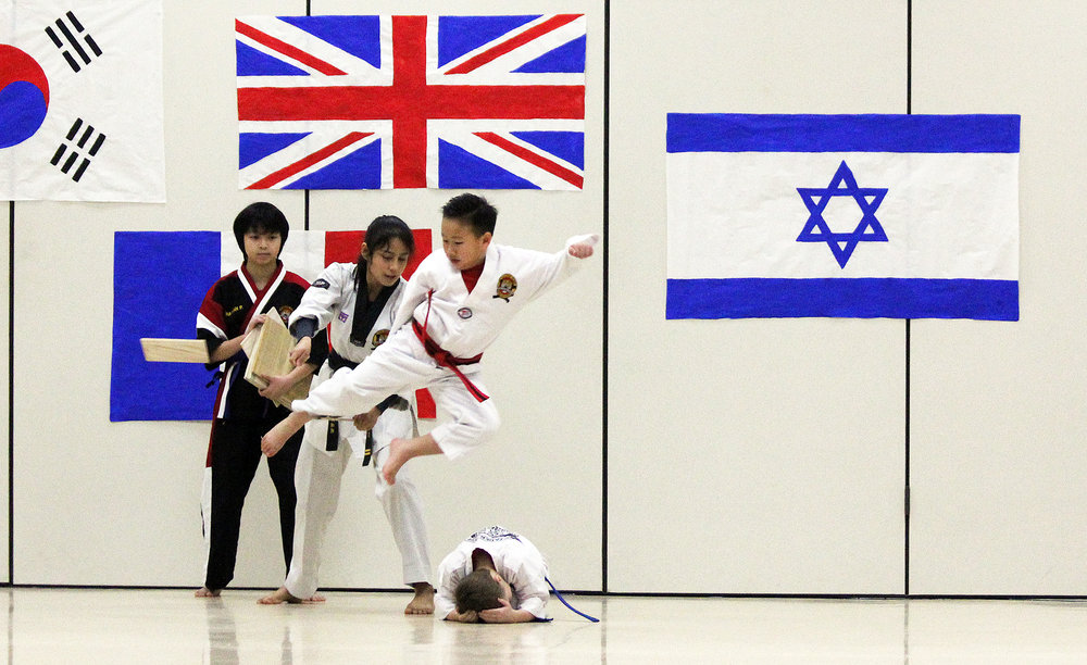 Members of Golden Tiger Taekwondo performed multiple high-energy routines