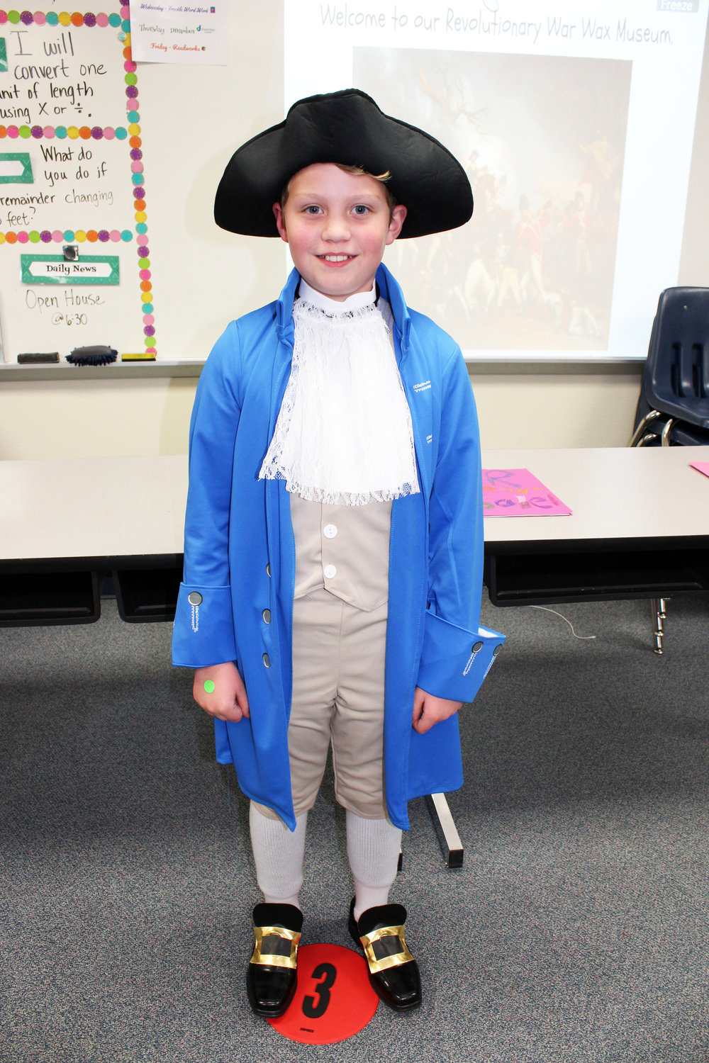 "Colin Coakley portrayed Paul Revere. He started his presentation with a robust cry of, ""The British are coming!"" He told of his famous horse ride and he added a lesser-known fact, ""I made political cartoons."""