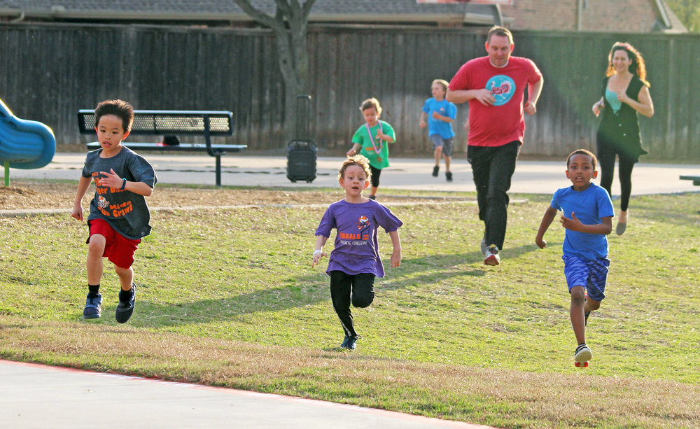 There were approximately 150 participants, plus spectators, at the 3rd Annual Tibbals Tiger Dash Obstacle Course.