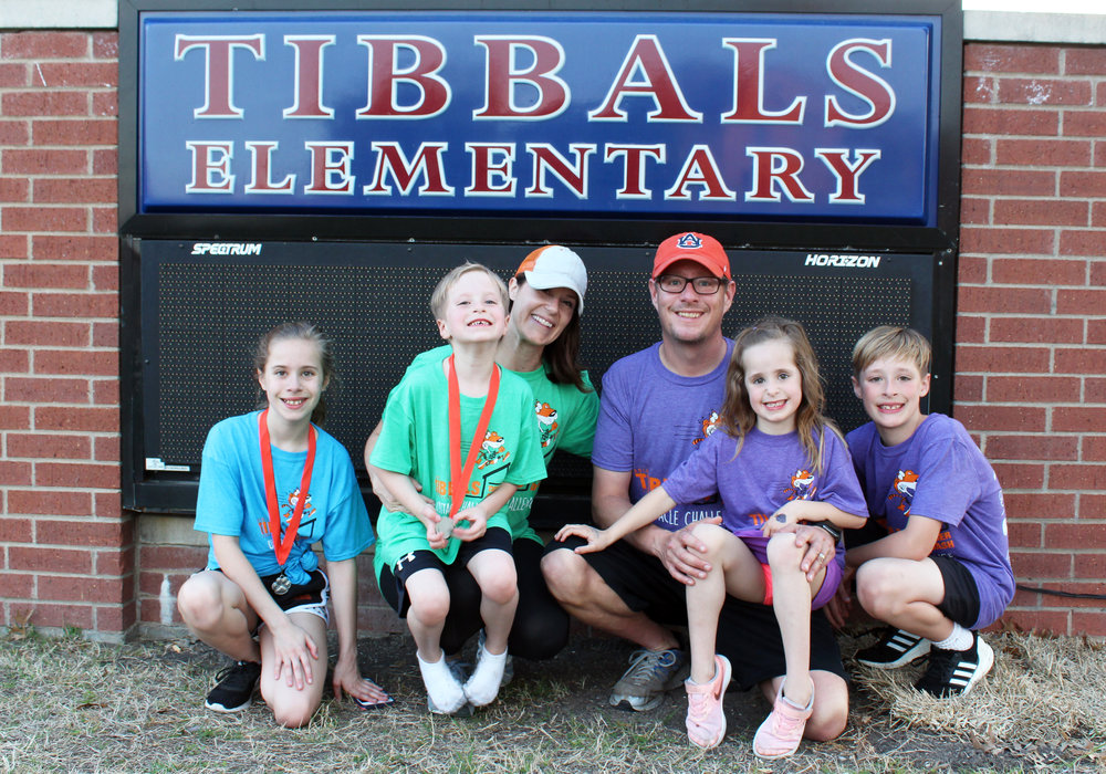 The Edwards Family (from left) Hannah (5th grade), Ethan (kgtn.), Melissa, Dan, Elizabeth (kgtn.) and Jackson (3rd grade).