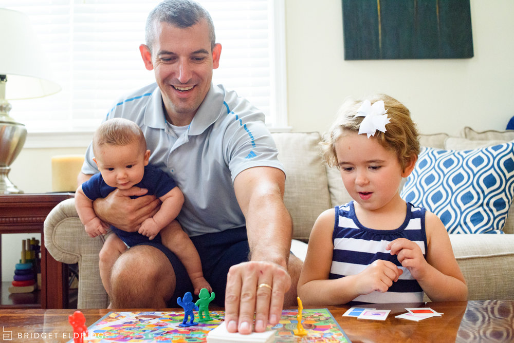 family plays candyland