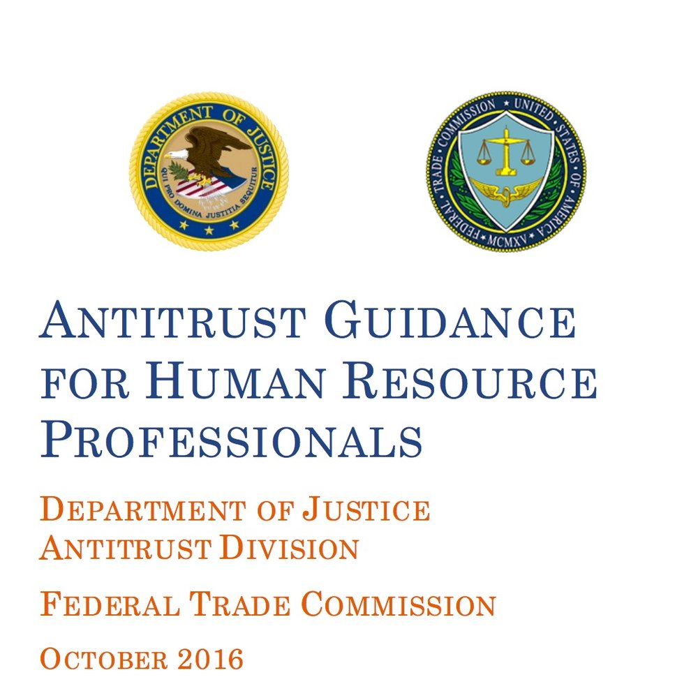 Antitrust Guidance for Human Resources Resource Professionals - DEPARTMENT OF JUSTICE