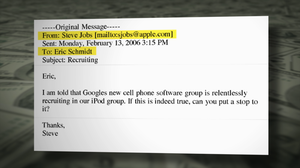 Email from Steve Jobs to Eric Schmidt