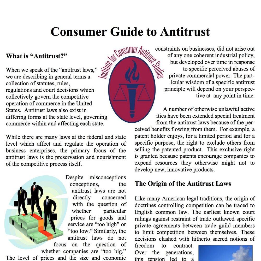 Consumer Guide to Antitrust - LOYOLA UNIVERSITY CHICAGO