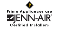 Using Prime Appliances Ltd. entitles clients to an additional year to their warranty on all Jenn-Air appliances!