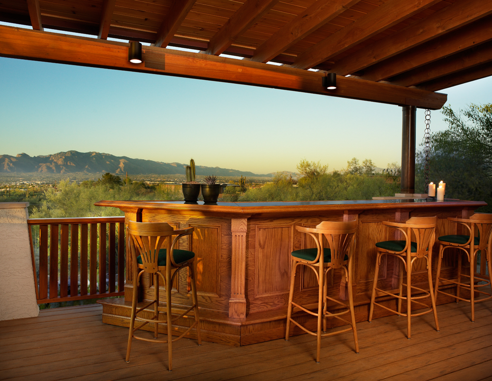 These homeowners knew they wanted an iconic view of downtown Tucson, and maximized the entertainment value with this stunning deck.