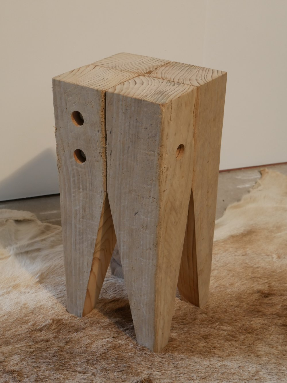 Block Stool, natural 2018
