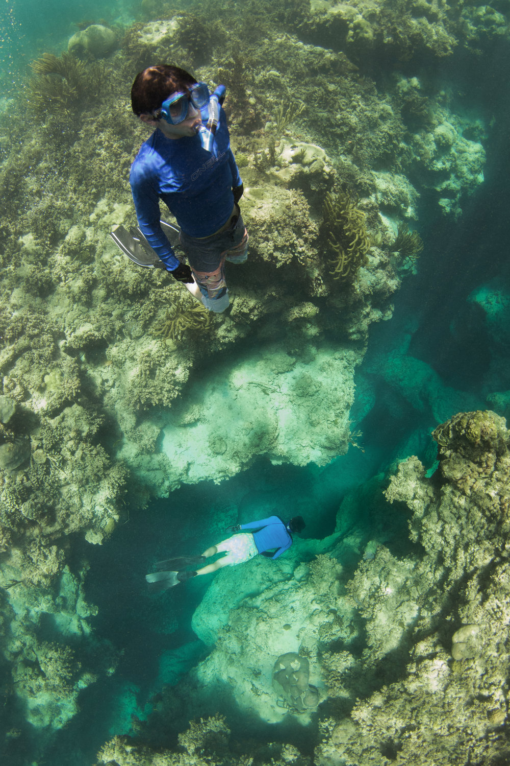 A Blue Hole known as 'The Coffin'