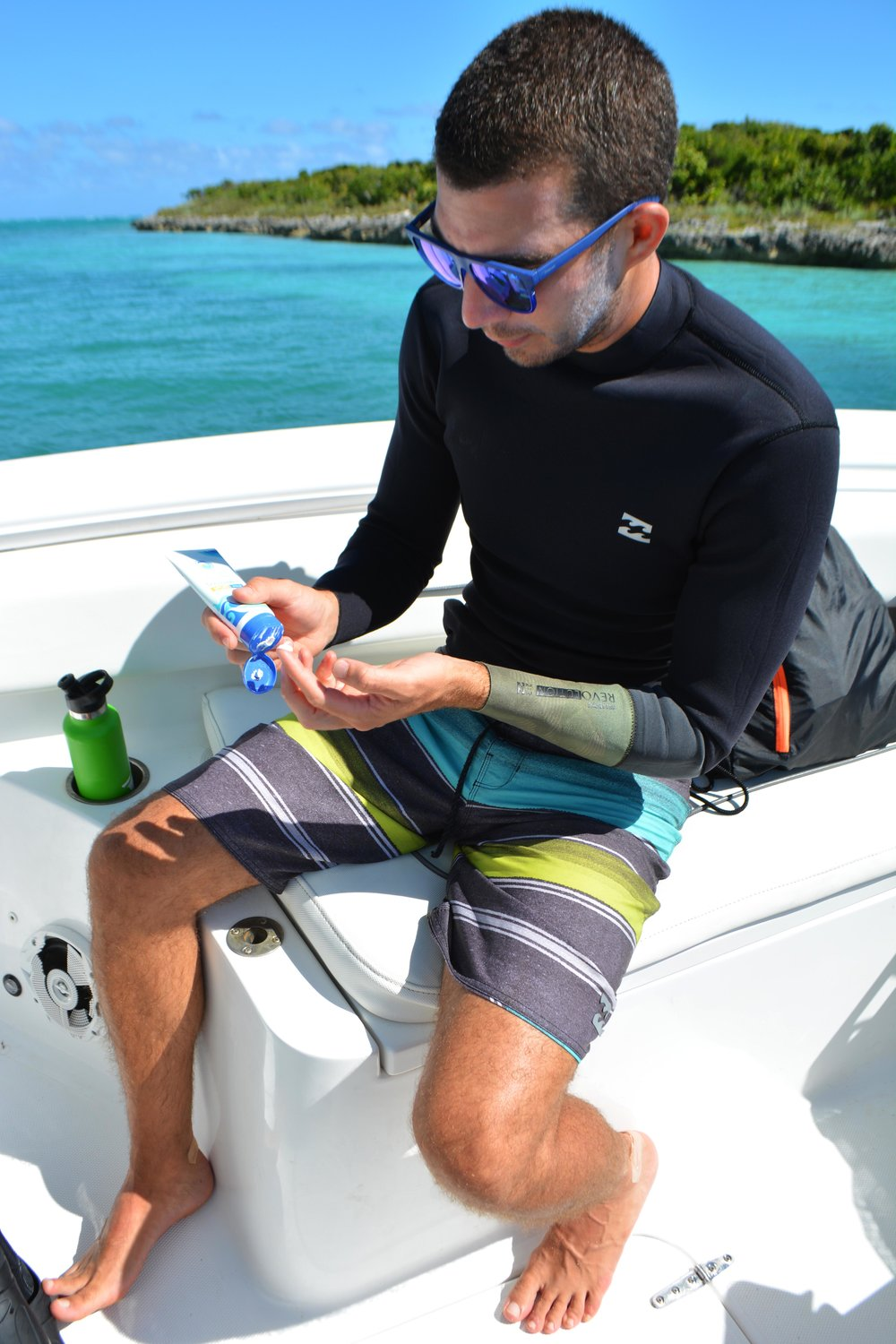 Coral safe sunscreen from    Stream2Sea    was used throughout the expedition