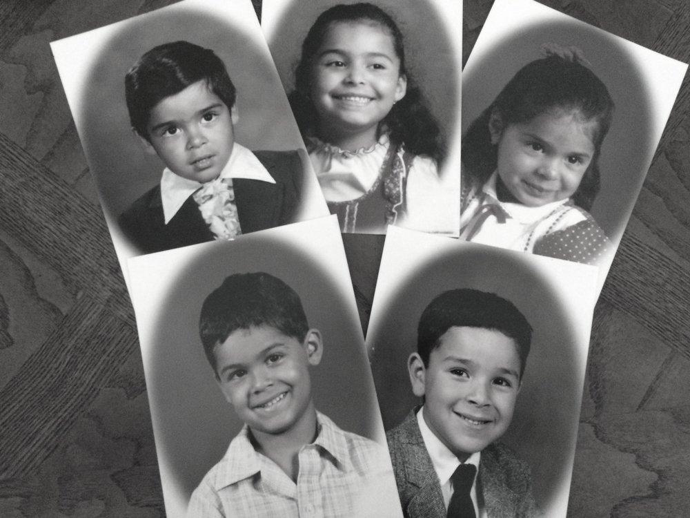Los cinco ganchos que forman parte de mi familia. Tito, Yo, Nani, Satanas y El Bodoque