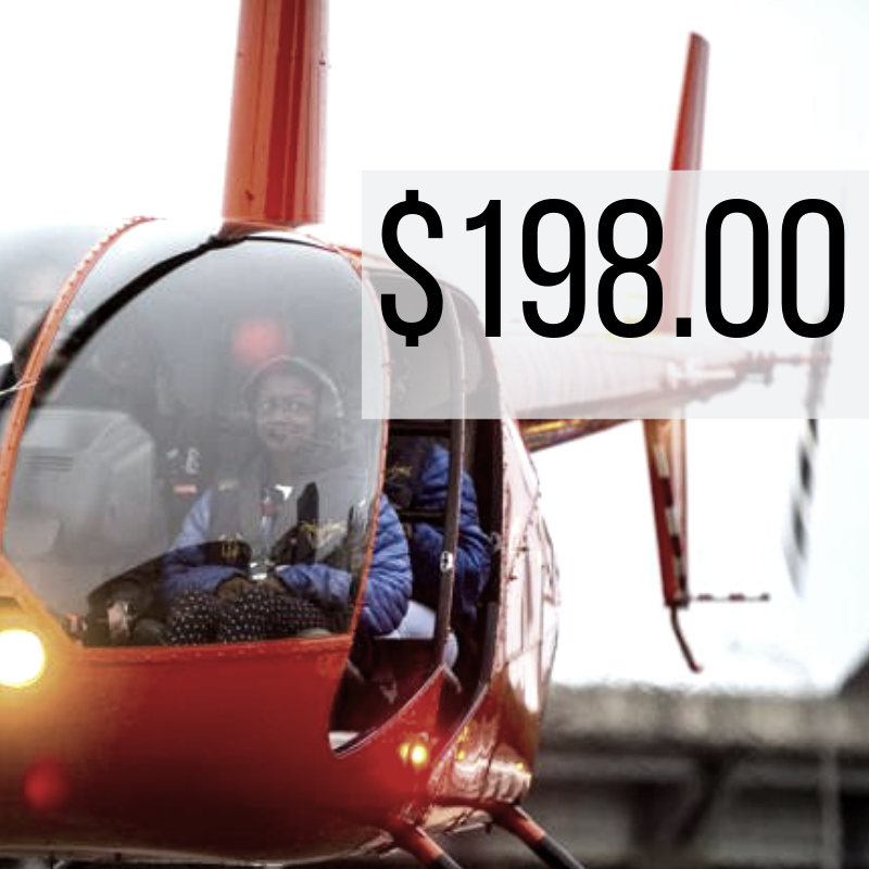 30 Miles - $198.00 (+ taxes and fees)   Is flying over the French Quarter, Bourbon Street, Mercedes Benz Superdome, Jackson Square, and the Mississippi not enough? Check out the swamps and abandoned 6 flags theme park!   *Prices are per ticket