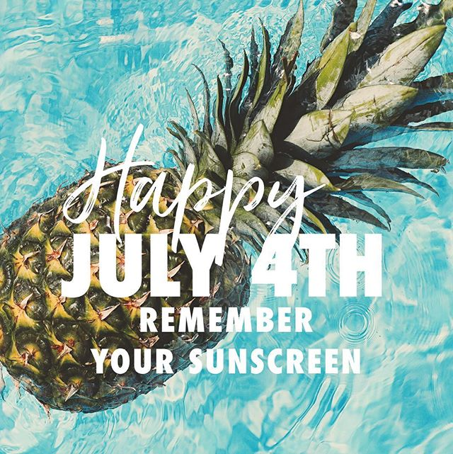Have a wonderful Fourth of July everyone! And don't forget to protect your precious skin with SPF! We'll see you all tomorrow 🇺🇸
