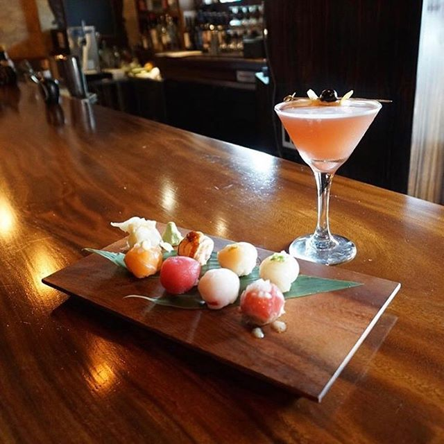 The Pearl #omakase paired with The Pearl #cocktail  #regram @minalovelove