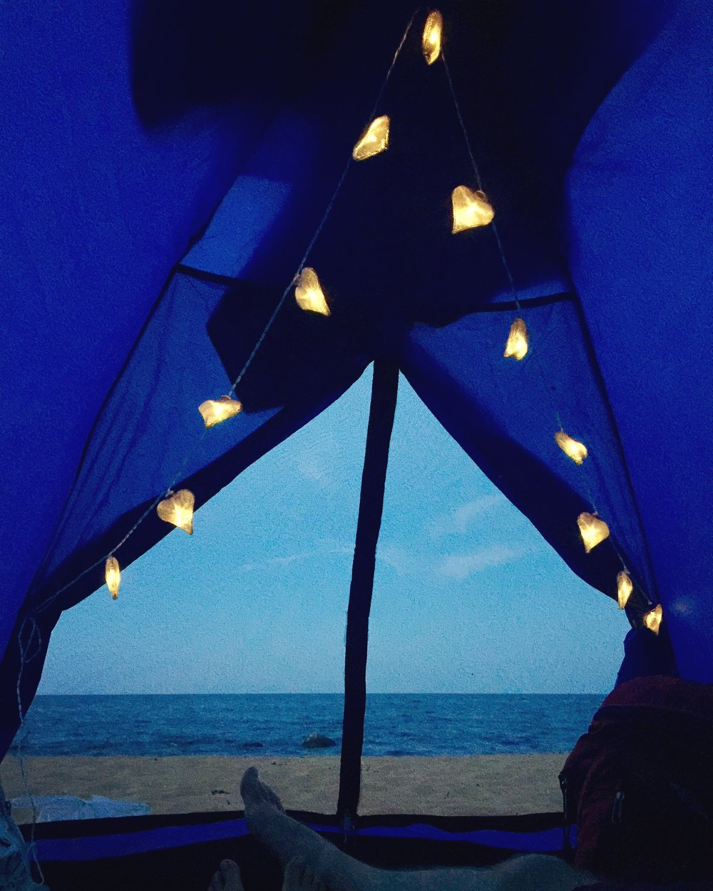 View from our tent from the inside. Take me back to that night and that sky please.