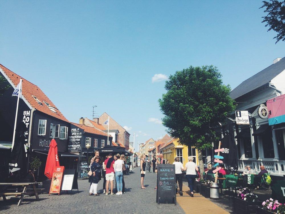 Just a lovely street in Rønne