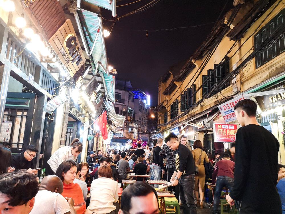Ta Hien street on a Tuesday night. Who waits till Friday duh?