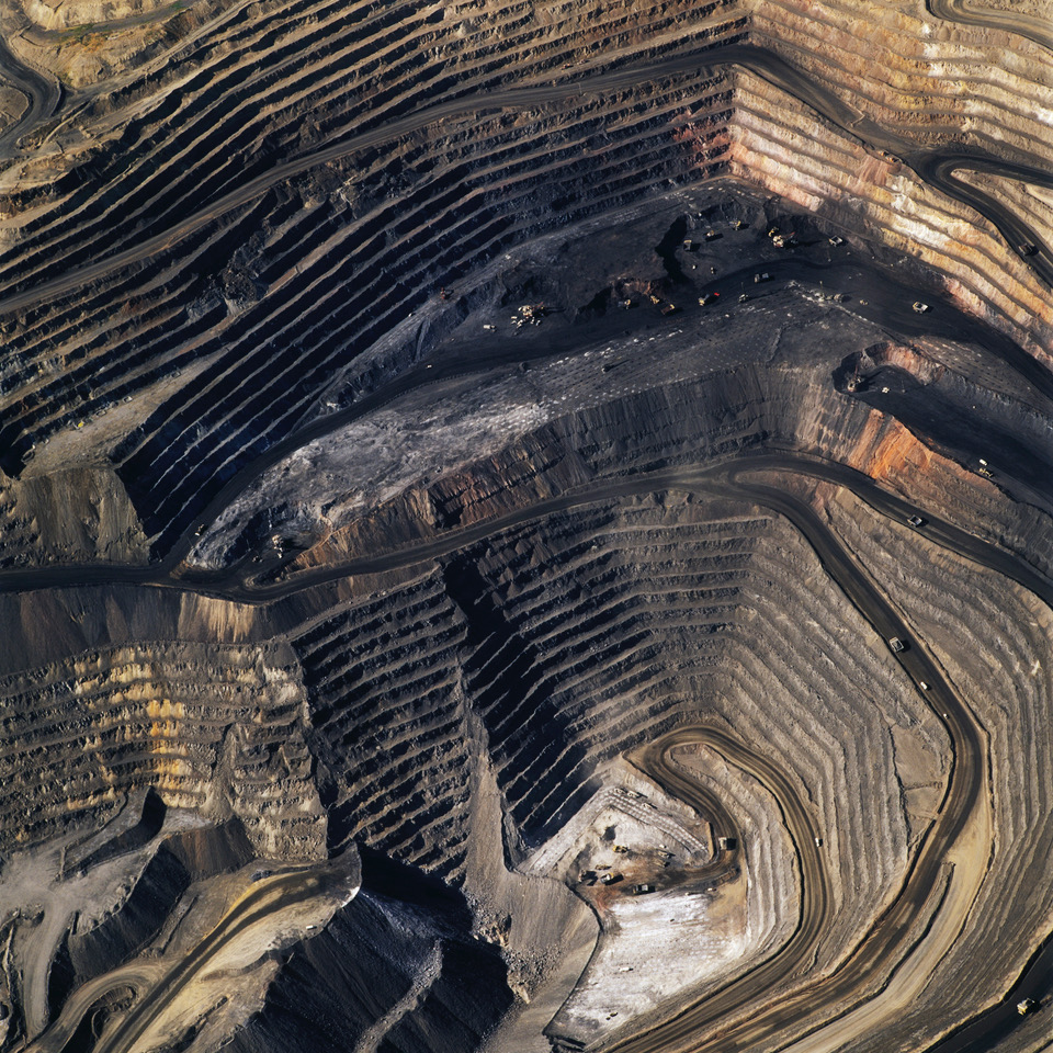 American Mine,Photograph by  David Maisel .